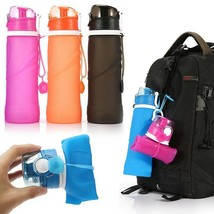 750ML Water Bottle Collapsible BPA Free Food Grade Silicone Sports Trave... - $14.86