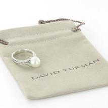 David Yurman Starburst Ring 10mm Pearl Diamond 0.30cts Sterling Sz 7 New $1400 - $1,066.99