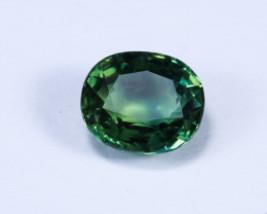 NATURAL CERTIFIED BLUISH GREEN SAPPHIRE GEMSTONE - $1,575.00
