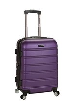 Rockland Luggage Melbourne 20 Inch Expandable Carry On, Purple, One Size - $64.63