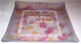 Vintage Reuven Rueven Handpainted Nouveau Art Matza Glass Design Plate - $119.99