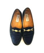 $375 Mezlan Blue Suede Shoes Exotic Collection Loafers Mens Size 8.5   1... - $63.79