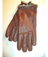 Ladies Genuine Leather DRIVING Gloves Brown, M-SEE DESCRIPTION FOR PICS - $31.67