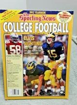 Sporting News College Football Magazine 1992 Elvis Grbac Michigan Good VG - $11.88