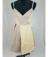 All Saints women 10 flag wrap dress sleeveless color block paneled boho - $69.30