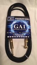 CBI Performer GA1-G Guitar Cable USA GOLD Neutrik Straight-angle Ends 10... - $14.84