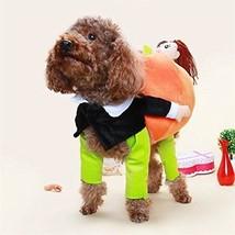 BlueSpace Pet Costume Dog Cat Pumpkin Pets Suit Halloween Costumes Pets ... - €31,23 EUR