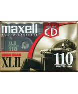 VINTAGE SEALED  MAXELL HIGH BIAS XLII 110 MINUTES AUDIO CASSETTE - $5.34