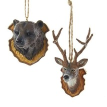Bear & Deer Trophy Ornaments - $12.95