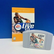 Nintendo 64 video game cartridge NBA live 99 basketball 1999 EA sports p... - $11.83