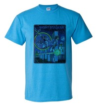 Night Stalker T-shirt Fee Shipping retro video game distressed heather blue tee image 1