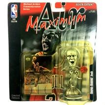 Michael Jordan 1999 Maximum Air Silver Edition Figure Mattel NBA HOF Bulls - $12.82