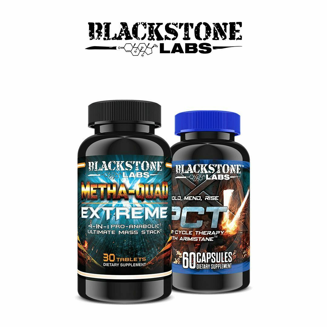 Blackstone Labs Metha Quad Extreme 4 in 1 Ultimate Mass Stack & PCT V STACK - $93.49