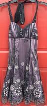 Women's Jr's B.Darlin Formal Evening Prom Dress Sz 3/4 Purple Black Pink Floral - $27.12