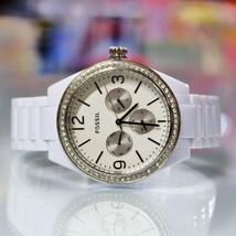 New FOSSIL BQ3343 Chronograph Glitz White Acetate Bracelet Women Watch - $106.92