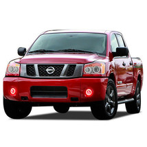 LED Fog Light Halo Ring Bluetooth Multi-Color RGB Kit for Nissan Titan 0... - $112.27