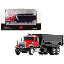 Mack Granite with Tub-Style Roll-Off Container Dump Truck Red and Black 1/87 ... - $65.41