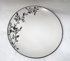 "2 Germaine by Gibson Designs Salad Dessert Plate 7 7/8"" Great Shape Black White  - $39.59"