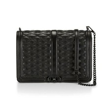 NWT Rebecca Minkoff Jumbo Love Quilted Lrg Leather Shoulder Bag BLACK AU... - $285.00