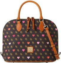 Dooney & Bourke Women's Gretta Hearts Zip Zip Satchel, Brown T'Moro 8178-7 - $235.62