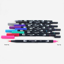 Tombow ABT Dual Brush Pens (Brush Tip + 0.8mm Fine Tip) 10-Color Set, Galaxy, AB - $33.99