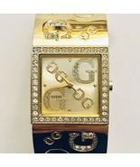 Guess Swarovski Crystal Sun Champagne Crystal Dial Women's Watch G96049L - $67.68