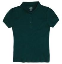 Girls School Uniform Shirt Picot Collar S/S Polo Hunter Size 4 French Toast New - $12.58