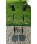 2 Bose Double Cube Speakers Acoustimass Lifestyle with 2 UFS-20 stands &... - $128.69