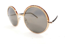 Cutler & Gross Women's Sunglasses 1070-CPGN Champagne Metal/Leather ITAL... - $175.00