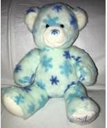 Build A Bear Blue Snowflake Teddy Bear Winter Christmas Holiday Plush St... - $19.79