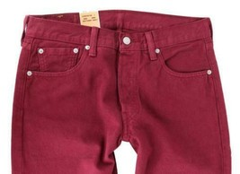 NEW LEVI'S 501 MEN'S ORIGINAL FIT STRAIGHT LEG JEANS BUTTON FLY RED 00501-1570 image 2