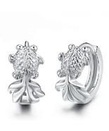 925 Sterling Silver Cute Small Fish Hoop Earrings For Women Girl Gift Je... - $7.92
