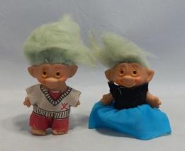 2 Vintage Uneeda Trolls - $21.78