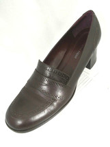 """Etienne Aigner """"E-Greeley""""  Womens 8M Brown Leather Chunky Heel Loafer - $18.00"""
