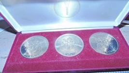 3 coin set Turks & Caicos 5 Crowns 1992 Olympics Gymnastics Running Equ... - $43.56