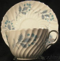 Aynsley Las Palmas Blue Tea Cup and Saucer 8274 Teacup Duo English Bone ... - $32.62