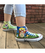 Top Hand Painted Shoes Anime My Neighbour Totoro Converse All Star Sneakers - $219.00