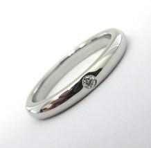 TIFFANY & Co. Platinum Elsa Peretti Diamond Band Ring 5.5 - $650.00