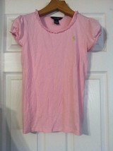 RALPH LAUREN TEENAGE GIRLS PRE-OWNED PINK 100%COTTON CREW NECK T-SHIRT S... - $15.99