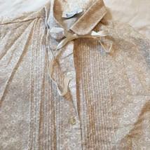 Vintage 80s Shirt Women's size Medium Flower Print Ribbons - $29.02
