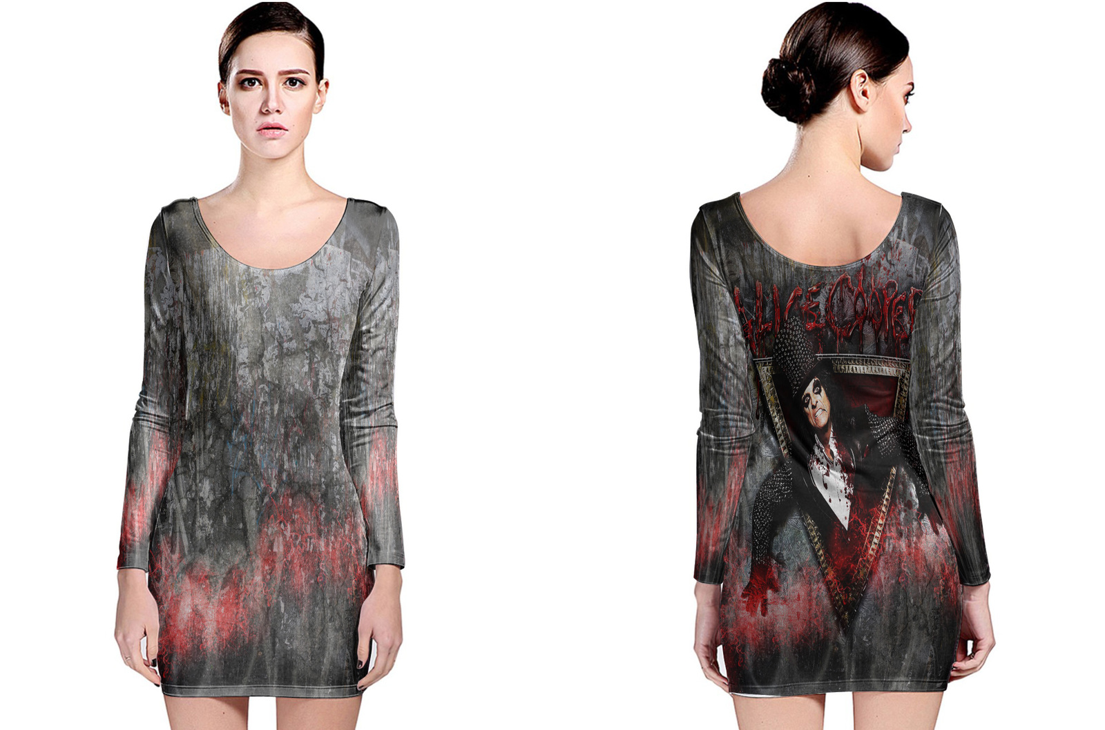 Primary image for Alice Cooper Collection #2 Women's Long Sleeve Bodycon Dress