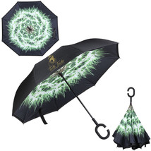 Hands Free Inverted Umbrella C-Shaped Handle Double Layer UV Protection - $35.00