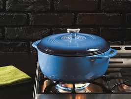 Enameled Cast Iron Dutch Oven 6 Qt Kitchen Cookware Pot With Lid Handle ... - $86.98