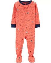Carter's Boys' 1-Piece Footed Pajamas (5t, Orange/Shark) - $18.74