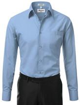 Berlioni Italy Men's Classic Short Sleeve Light Blue Dress Shirt w/Defect XL image 1