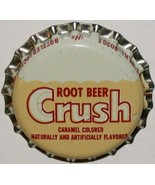 Vintage soda pop bottle cap CRUSH ROOT BEER unused new old stock excelle... - $7.99