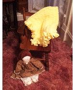 Yellow Hand Crocheted Ruffled Baby Blanket - $50.00