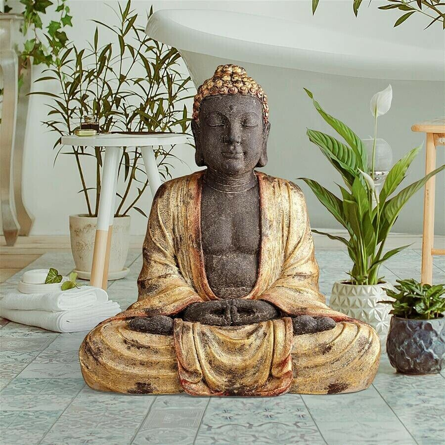 Earth Witness Buddha Garden Statue yard pond decor 2 feet tall - $240.00