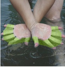 1 Pair Children Adult Silicone Hand Paddle Flippers Swimming Webbed Gloves - $8.00