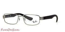 Ray Ban Eyeglasses RB6318 2502 Gunmetal Black Rectangle Frame 54mm Authentic - $82.45